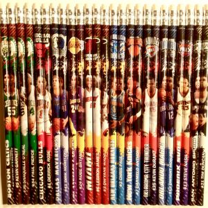 NBA assorted pencils