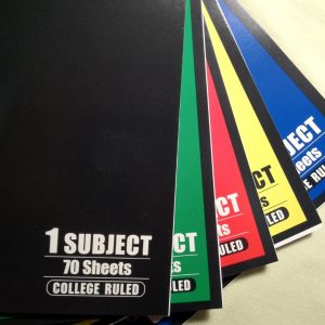 college rule notebook