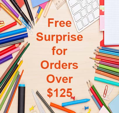 Free Surprise in all orders over $125