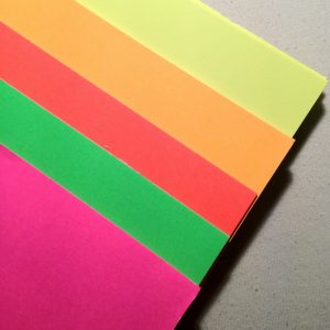 neon poster board
