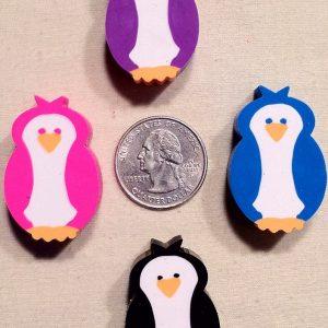 penguin erasers