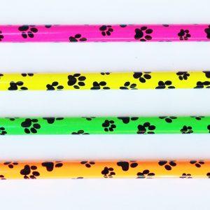 Neon Paw Print Pencils