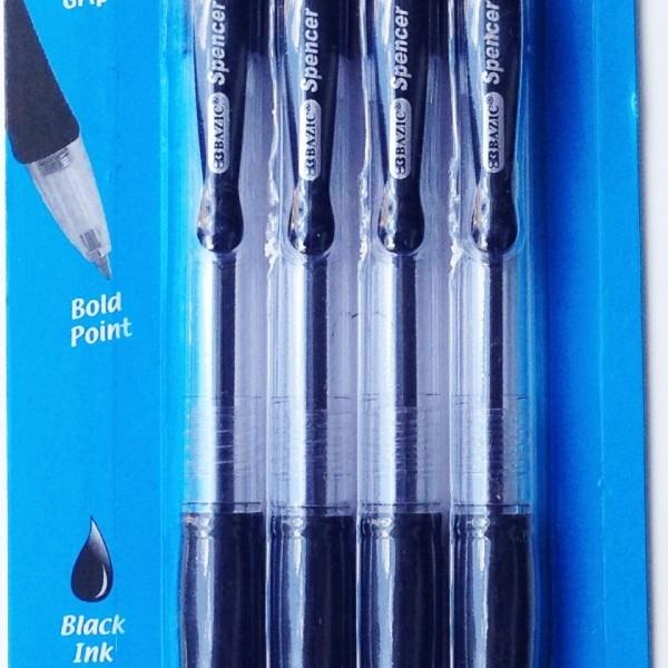 Retractable Black Pen