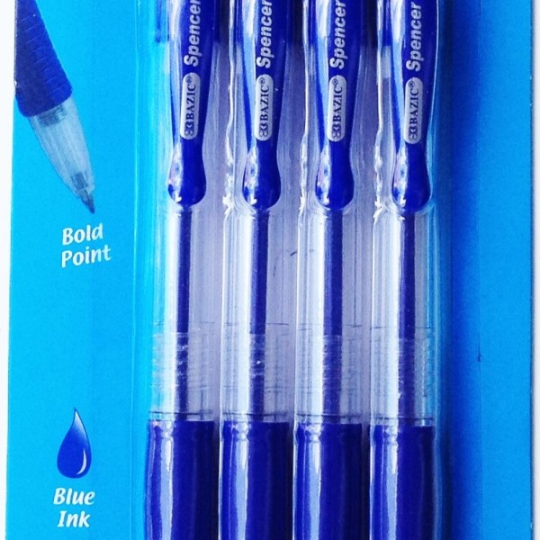 Retractable Blue Pen